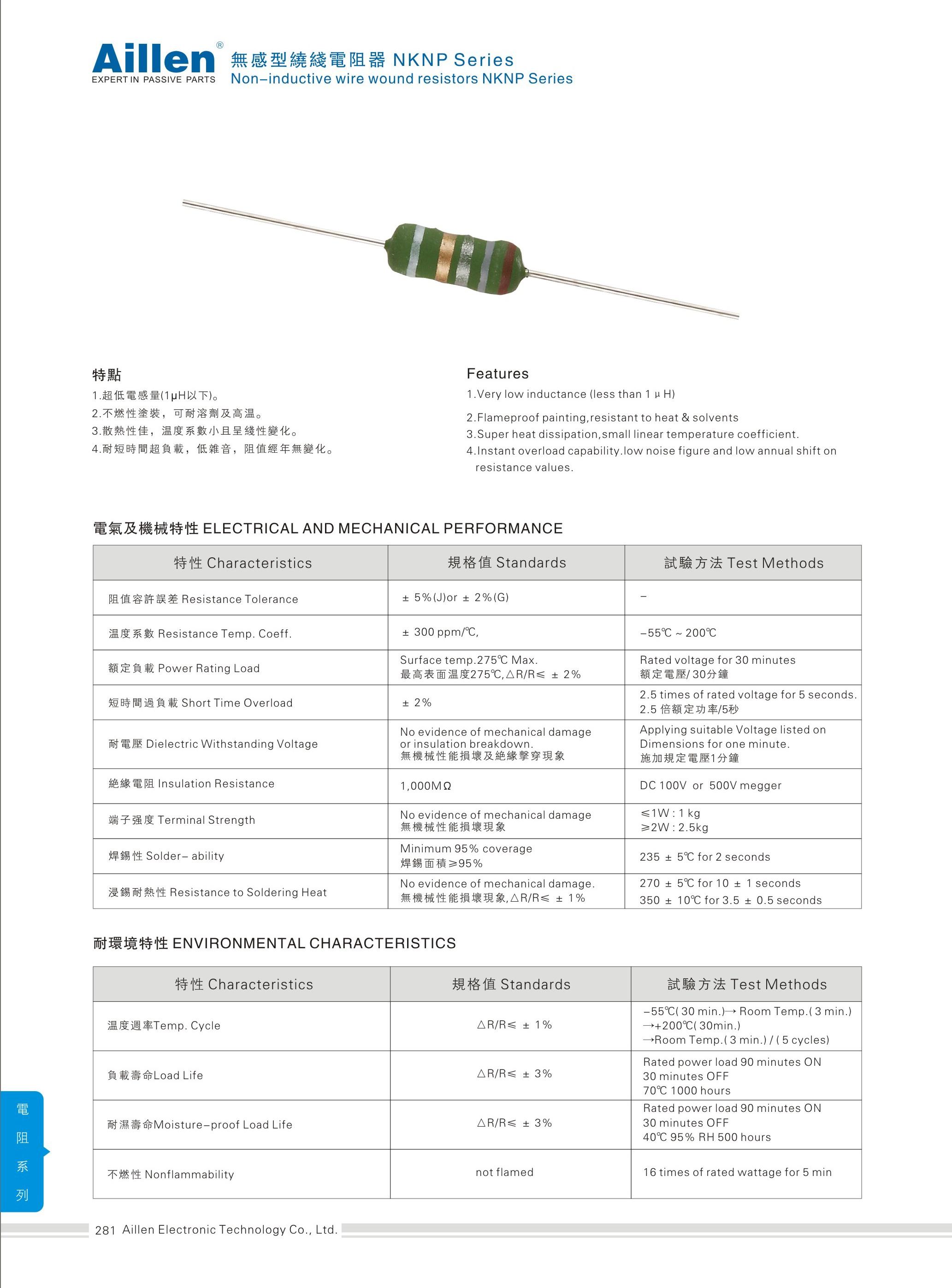 NKNP无感型绕线电阻