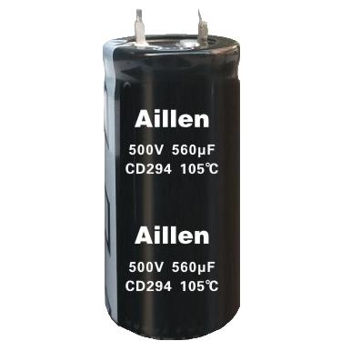 标准品牛角类铝电解电容-CD 294 系列